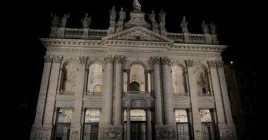 Roma. San Giovanni in Laterano, nuova illuminazione.