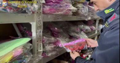 GDF Roma. Oltre 5 milioni di maschere e decorazioni non sicure,sequestrate-VIDEO-